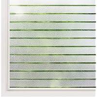 rabbitgoo® Film Électrostatique Fenêtre Motif Rayure Autocollant Fenêtre Film pour Vitre Maison 44.5 * 150CM Protection UV -Idéal pour Bureau Chambre Cuisine Maison Salle de Bain