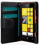 Melkco Mini PU Case Wallet Buch Typ für Nokia Lumia 520 schwarz