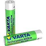 Varta ACCU - Pack de 2 pilas AAA recargables (NiMH, 800 mAh, precargadas)