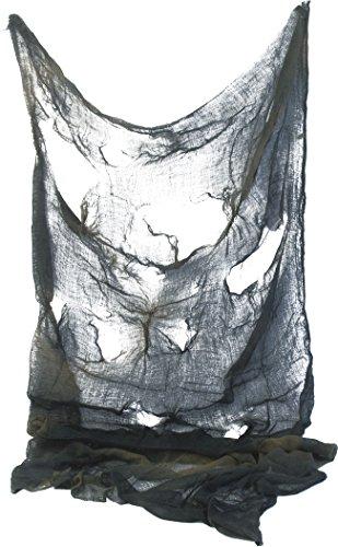 Smiffys, Unisex Gruseltuch, 75cm x 180cm, One Size, Grau, (Ideen Halloween Dress Up Party)