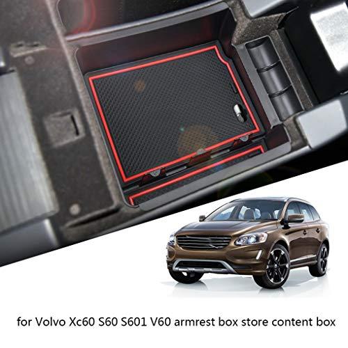 Cdrox Ersatz für Volvo XC60 S60 V60 2009-2017 Mittelkonsole Armlehne Stau Box-Organisator-Einsatz Aufbewahrungscontainer Paletten