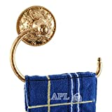 Towel hook, Solid Brass Towel Ring Exquisite Carved Bathroom AccessoriesTitanium Gold APL-6311