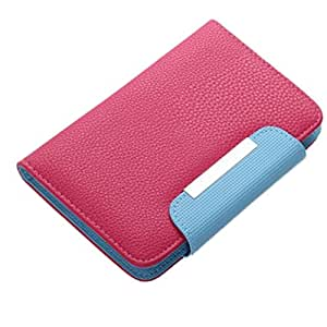 BRAIN FREEZER Z SERIES MAGNETIC HIGH QUALITY UNIVERSAL PHONE FLIP CASE COVER STAND FOR MOTOROLA MOTO E EXOTIC PINK BLUE