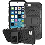 Connect Zone® Tough Hard Rugged Builders Shock Proof Heavy Duty Case With Back Stand For iPhone 4/4G/4S + Screen Protector & Polishing Cloth