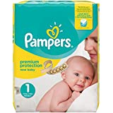 Pampers Premium Protection New Baby Größe 1 (Newborn) 2-5 kg Halbmonatsbox, 1er Pack, 1 x 72 Windeln
