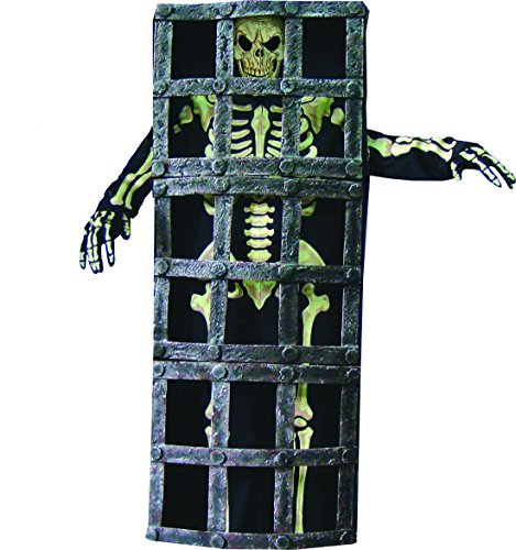 Fancy Ole - Herren Männer Halloween Karnevals-Kostüm Set Nightmare Horror Gefängnis-Skelett, One Size, Mehrfarbig