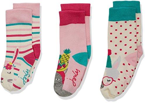 Joules Mädchen Socken Brilliant Bamboo, 3er Pack, Mehrfarbig (Party Animals Party), 32-36 EU (Herstellergröße  : 13-3 UK) (Männer-unterwäsche Animal-print)