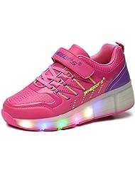 Zapatillas con ruedas automáticas y luces LED para niños - Rosa - Varias tallas