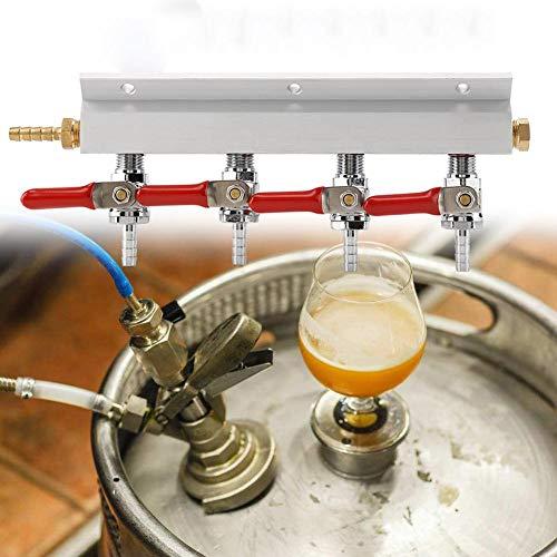 Gasbrenner, Gasverteiler Splitter, Bienen-Gasverteiler CO2 Anschlussstücke, 4 Way Beer Splitter, 240 x 90 x 30 mm