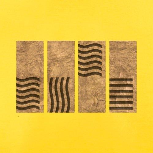 4 Element Stones - Herren T-Shirt - 13 Farben Gelb