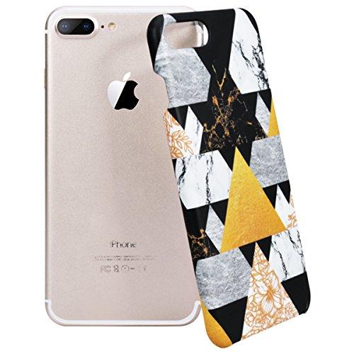 "WE LOVE CASE iPhone 8 Hülle Kreativer Marmor iPhone 8 4,7"" Hülle Hardcase Schwarz Weiß Rosa Handyhülle Tasche für Mädchen Elegant Backcover , Harte Case Handycover Stoßfest Bumper , Ultra Dünn Schale  marble 4"