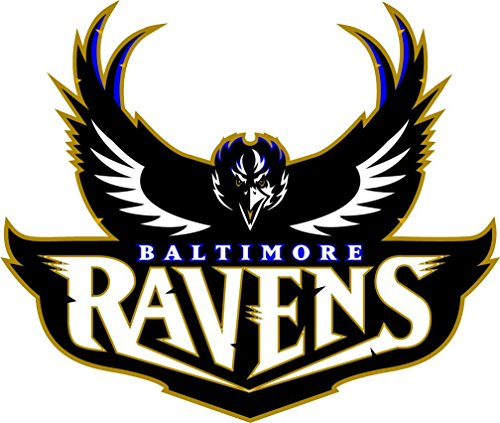 skyhighprint Vinyl-Aufkleber Baltimore Ravens NFL Football Sport Decor 35,6 x 30,5 cm