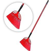 HIC Plastic Floor/Ceiling Brush with Extendable Rod (Multicolour)