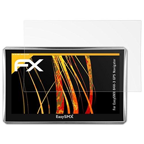 atFoliX Protecteur d'écran pour EasySMX 84H-3 GPS Navigator Film Protection d'écran - 3 x FX-Antireflex anti-reflet Film Protecteur