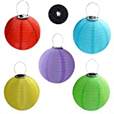 MENGCORE 5PCS/set Solar Powered Hanging Oriental 12