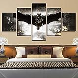 ZLQF Batman Imágenes Cuadros En Lienzo Póster De Impresión 5 Piezas De Arte De Pared para La Sala De Estar Dormitorio Decoraciones para El Hogar