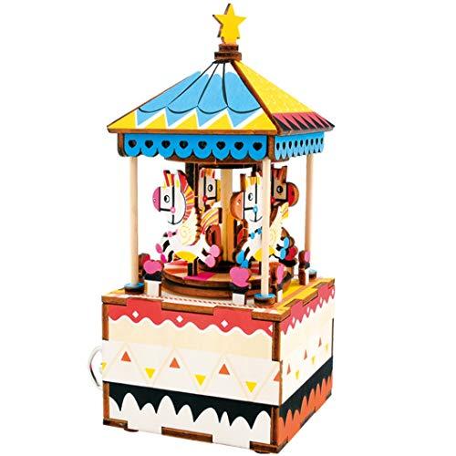 JOJO DIY Music Box/Kunsthandwerk Ornamente/Rotierende Spieluhr/Karussell / Home Decoration/Kreative Geschenke -