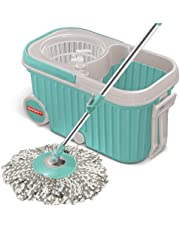 Spotzero by Milton E-Elite Spin Mop with Bigger Wheels and Plastic Auto Fold Handle for 360 Degree Cleaning