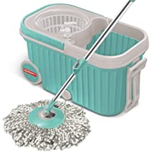 Spotzero by Milton Elite Spin Mop with Bigger Wheels & Auto Fold Handle for 360 Degree Cleaning