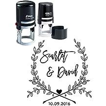 Custom Autoentintaje Guardar los sellos de fecha personalizada regalo Invitación boda del sello de Ronda
