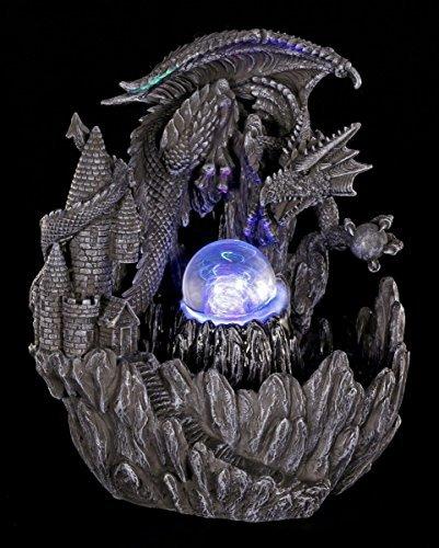 Drache-wasser-brunnen (Drachen Brunnen mit LED - Figur Zimmerbrunnen Gothic)