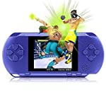 "Game Consoles XinXu 2.7"" LCD Handheld Games Console 16 Bit Portable Rechargeable Video Game with 150+ Games Blue"