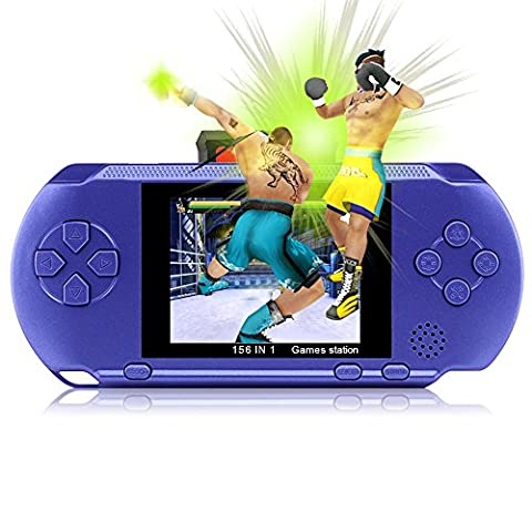 "Game Consoles XinXu 2.7"" LCD Handheld Games Console 16 Bit Portable Rechargeable Video Game with 150+ Games"