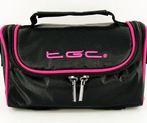 new-tgc-black-hot-pink-trim-spalla-custodia-per-fotocamera-reflex-nikon-coolpix-l820-l810-fm10-bridg