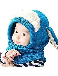 Sombrero de la Bufanda del Invierno de los Beb¨¦s de Las Muchachas de los Muchachos Sombrero Caliente del Casquillo del Earflap para los Ni?os 6-36 Meses