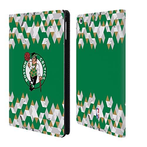 Head Case Designs Offizielle NBA Marmor Geometrisch 2018/19 Boston Celtics Brieftasche Handyhülle aus Leder für iPad Mini 4 Boston Celtics Mini