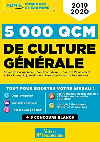 5000 QCM de culture générale + Actu en ligne mois par mois - Concours et examens 2019-2020 par  Mattern Sophie, Artous Christiane