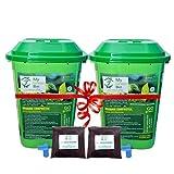 Green Bin My 25 L Composter Composting Bin -2 Bins