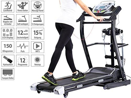 newgen medicals Laufband elektrisch, mit Fitness-Station Abbildung 2