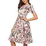 SCHOLIEBEN Elegante Kleider Damen Kleid Sommerkleid Sommer Petticoat Vintage Rockabilly 50Er 60Er Jahre Sexy Festlich A-Linien Tunika Knielang Abendkleid Partykleid