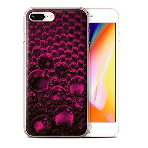 Stuff4 Gel TPU Hülle / Case für Apple iPhone 8 Plus / Pack 5pcs / Blasen/Tröpfchen Kollektion Rosa