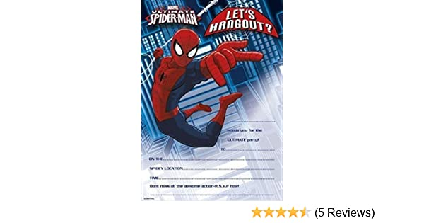 spiderman party invitations 20 sheets envelopes for christmas