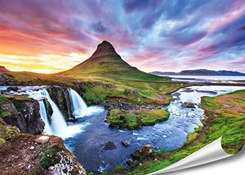 PMP 4life. XXL Poster 'Kirkjufel Wasserfall'| 140x100cm | hochauflösendes Wand-Bild, Natur Poster...