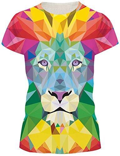 Shirt Bluse 3D Print Kurzarm Design Tops Hemd T-Shirt (Größe L, A-Kaleidoskop Löwe) (Halloween-artikel Für Den Verkauf)
