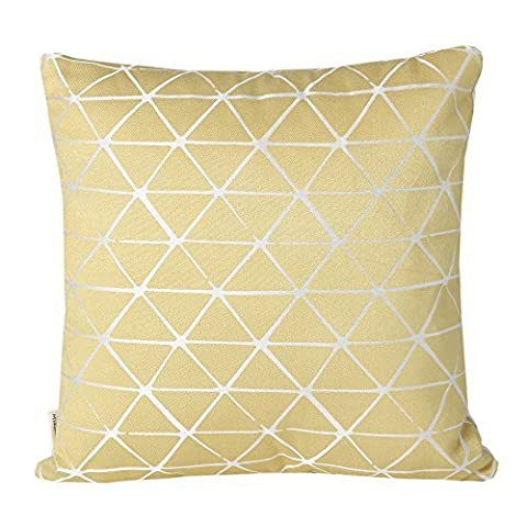 Mika Home Jacquard Triangle Reversible Throw Pillow Cover Cushion Shell