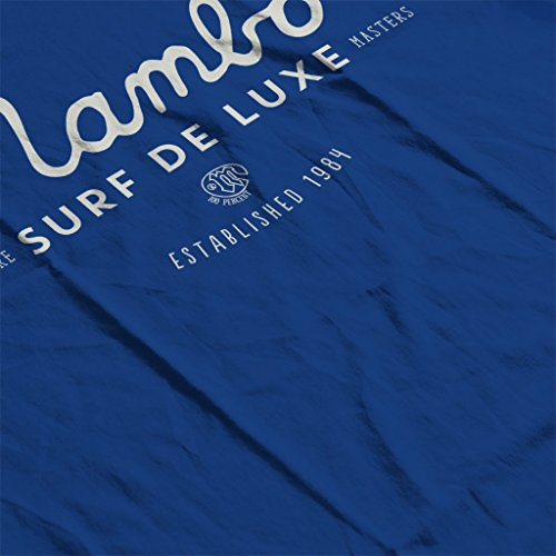 Mambo Cubano Surf White Women's Sweatshirt Royal Blue
