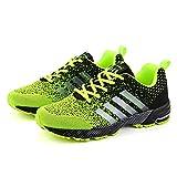 Scarpe Uomo Casual Sneakers,Scarpe da Ginnastica Casual Comode Adatto per La Corsa All'Allenamento Sportivo Scarpe da Tennis Traspiranti Verde Fluorescente 43 EU