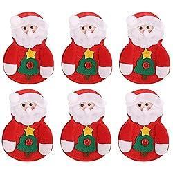 XKJFZ Weihnachtsgeschirr-Halter-Taschen-Dekorationen Weihnachtstischdekoration Weihnachts Bestecke Baum Alten Mann Besteck Set Dinner Party