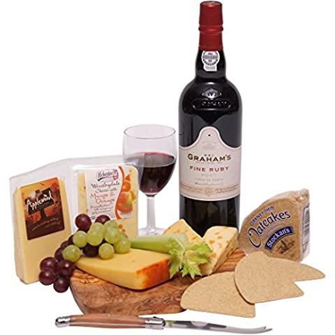 Port and Cheese Gift Set - Cheese Hampers - Port Gift Hampers