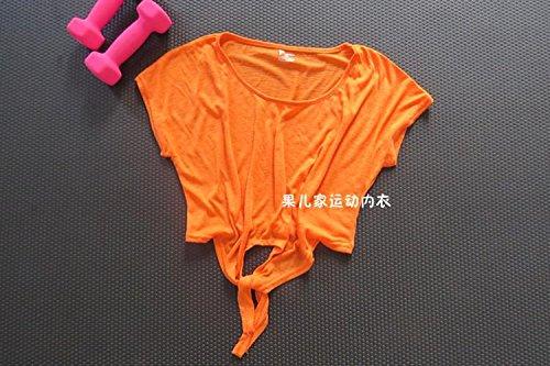 ZHUDJ Le Cache Translucide Jusqu'Femme Version Coréenne De Slim Fast Dry Occasionnels, Sous-Vêtements T-Shirt Pour Le Mouvement. Honey orange