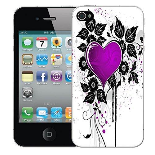 Mobile Case Mate iPhone 5s clip on Dur Coque couverture case cover Pare-chocs - violet buttefly sparkle Motif avec Stylet purple cupid heart
