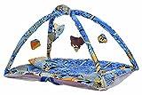 #3: Kids' Jumbo Bedding Set with Chain Net Protection (Blue) - 100 x 60 x 55 cm