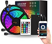 ANEAR LED Strip Lights, 32.8ft DIY RGB Colour Rope Light Strip Kit with Remote and Timing Off, Dream Colour fo