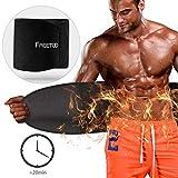 FREETOO Schwitzgürtel Bauchweggürtel Bauchgürtel mit Sauna Neopren zur Fettverbrennung und Figurenstaltung geeignet für Bodybuilding, Krafttraining, Muskelaufbau für Männer und Frauen