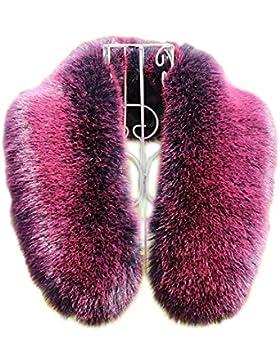 Modelshow Mujeres artículo de pieles collar removible cuello desmontable cuello falso de piel falsa para abrigos
