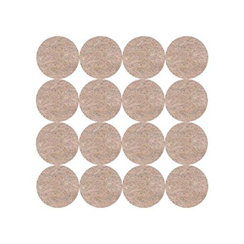 3 M uu007823386 Filz aus Wolle Ultra Weich mit Behandlung Scotchgard beige, Ø 17 mm